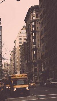 Miasto na fototapecie